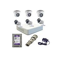 Trọn bộ 6 Camera Hikvision 1080P (Văn Phòng, Cửa Hàng) Hàng Chính Hãng