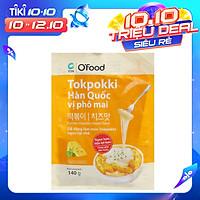 Bánh Gạo Tokpokki Hàn Quốc Vị Phô Mai Kèm Sốt Nấu O'Food (Gói 140g)