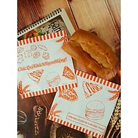 500 túi giấy tam giác 20 x 20 gói Hamburger, bánh mì Doner Kebab ( Bánh mì Thổ Nhĩ Kỳ)