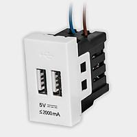 Ổ cắm USB âm tường DQHome ĐQ IW1 2UO W (màu trắng)
