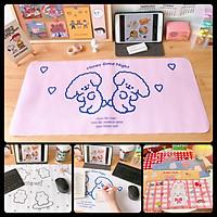 Tấm lót bàn học, bàn làm việc dễ thương chống nước - Bàn di chuột gaming mẫu hoạt hình siêu đẹp giá rẻ