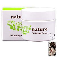 Kem dưỡng làm trắng da ban đêm Nature Whitening Cream Nhật Bản 50g + Móc khóa