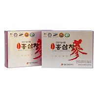 Combo 2 Hộp Trà Sâm Daedong 50 gói Chiết xuất từ hồng sâm nội địa 6 năm tuổi dạng trà hạt cốm Hàn Quốc