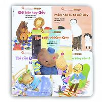 Combo 05 cuốn ehon Cùng bé lớn khôn 2 cho bé 3+ : Mầm non ơi, tớ đến đây!/ Ông nội là gấu bông của tớ/ Tai của Đô Đô tức giận rồi/ Đôi bàn tay gấu/ Kẹo mật và kem que - (kèm bookmark PD đặc biệt )