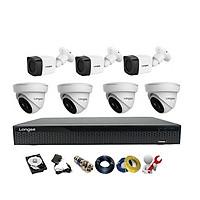 Camera Longse TVI 2.0MP 1080p bộ 7 mắt (Nhựa) - Hàng chính hãng