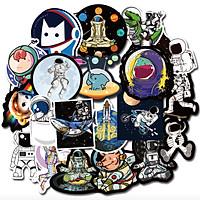 Set 100 Sticker chủ đề Phi Hành Gia dán Điện thoại, Laptop, Vali, Mũ bảo hiểm, Xe máy