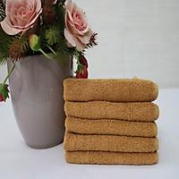 Combo 5 Khăn Làm Nail Cotton Nam Phong 34*34cm - màu Nâu Nhạt