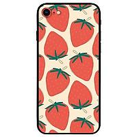 Ốp lưng dành cho iPhone 7 / iPhone 8 - iPhone Se 2020 - 7 Plus / 8 Plus mẫu Họa Tiết Dâu Đỏ