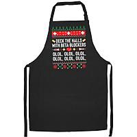 Tạp Dề Làm Bếp In Hình Funny Nurse Christmas Ugly Xmas Tshirt Gift Women