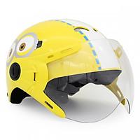 Mũ Bảo Hiểm Trẻ Em 1/2 Đầu Có Kính Protec Kitty, Họa Tiết Minion, An Toàn, Thời Trang - Hàng Chính Hãng