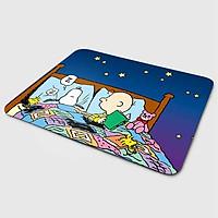 Miếng lót chuột mẫu Cún Snoopy Say Giấc (20x24 cm) - Hàng Chính Hãng