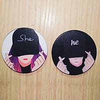 Combo 2 Popsocket He Love - She Love Cute dễ thương - Hàng chính hãng