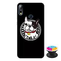 Ốp lưng điện thoại Asus Zenfone Max Pro M2 hình Chó Pun Dễ Thương tặng kèm giá đỡ điện thoại iCase xinh xắn - Hàng chính hãng