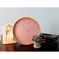 Đồng hồ treo tường viền khung gỗ  mộc mạc GTZH061