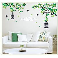 Decal dán tường trang trí xanh - Tán cây yên bình DCX017 (70 x 155cm)