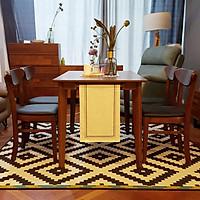 Bộ bàn ghế 4 ghế (Màu nâu)