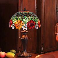 Đèn bàn trang trí Tiffany chao đèn đường kính 40cm