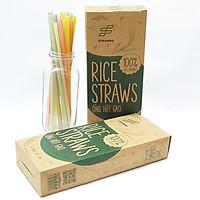 Combo 2 hộp ống hút gạo Rice Straws loại có màu