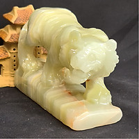 Tượng Phong Thuỷ Tuổi Dần - Hổ 12 Con Giáp Đá Ngọc Onyx Xanh - 8cm - Mx - Hợp Mệnh Hoả, Mộc