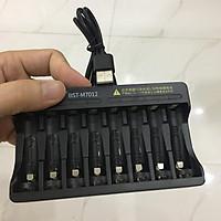 Bộ sạc pin Li-Ion 1.5V sạc được 8 pin AA hoặc AAA cùng lúc Có đèn báo đầy Sạc nhanh Tự ngắt