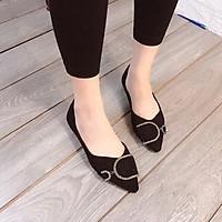 Giày bệt khoá D da lộn