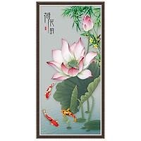 Decal hoa sen hồng trang trí LV-0223