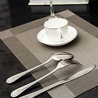 Bộ 4 tấm lót bàn ăn cao cấp (màu ghi)