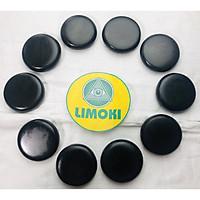 Bộ 10 Viên Đá Bazan Nóng Massage Tròn Trung Limoki 8x8x1.8cm