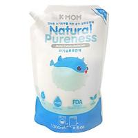 Nước xả vải hữu cơ K - Mom Hàn Quốc dạng túi (1300ml) - Xanh