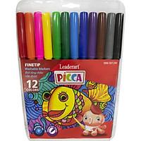 Bút màu nước Leaderart WM-0012W cho trẻ em với mực rửa trôi vượt trội- Vỉ 12 màu, có thể rửa sạch khi viết trên quần, áo, da..- Set 2 vỉ 12pcs