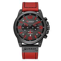 CURREN Men's Quartz Watch Wristwatch Calendar Hour Minute Time Display Leather 8314