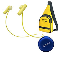 Tai Nghe Bluetooth Thể Thao Sony WI-SP500 + Quà tặng Túi đeo chéo & Hộp đựng tai nghe Sony - Hàng chính hãng