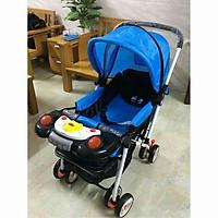 xe đẩy em bé  ̂́ ̣ đ ̆ xe đẩy 2 chiều 3 tư thế QD109, có bàn nhạc, có dây đai an toàn