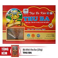 Bò Khô Thu Ba (500g) - Tặng 1 Gói Bò Khô Thu Ba 35g