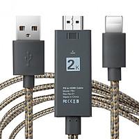 Cáp chuyển Lightning sang Tivi HD dây dù bền, chất  lượng 2k - Tặng đầu nối HDMI