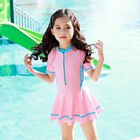 Bộ bơi bé gái liền chân váy (2-10 tuổi)