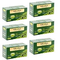 Combo 06 hộp Trà Vinatea - Trà xanh Thái Nguyên Túi Lọc ( 6 hộp*50 g)