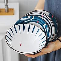 Bát ăn cơm men lam phong cách Nhật