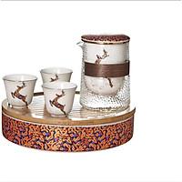 Bộ ấm trà đạo túi xách đi du lịch phong cách Nhật Bản 2-SAN1-L2-4256-2020
