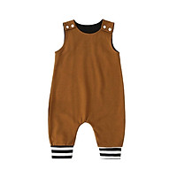Baby Rompers Toddler Jumpsuit Solid Sleeveless Cotton Outfit Snap Button Opening Infant Summer One-piece Bodysuit Baby
