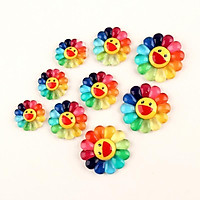 Sticker / Jibbitz Hoa kaikai kiki Gắn Dép Cross - Loại nhựa cứng