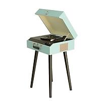 Đầu mâm than đa năng có chân đứng kiểu dáng vintage chất âm đĩa than LP vinyl Mộc mạc không cần amply có sẵn loa tự hành