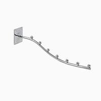 Móc treo quần áo inox dạng bi cong bắn trực tiếp vào tường E03 ( 50 cái/ thùng )