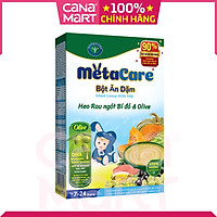 Bột ăn dặm tốt cho bé Nutricare Metacare Heo rau ngót bí đỏ & olive (200g)