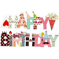 Dây Cờ trang trí Sinh Nhật Happy Birthday