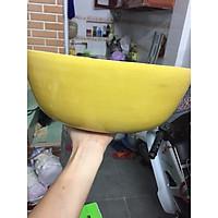 Bồn ngâm chân massage bằng tre - màu vàng (size 30cm)