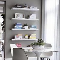 Combo 5 kệ treo tường trang trí xuất khẩu màu trắng dài 90cm