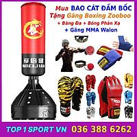 Combo bao trụ đấm bốc boxing tự đứng + găng đấm boxing vằn hổ - Thiết bị đấm bốc boxing dành cho dân chuyên, phòng tập, võ đường