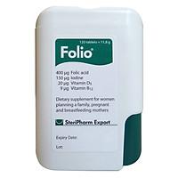 Viên uống bổ sung Acid Folic cho mẹ bầu và cho con bú Folio® - Hộp 120 viên