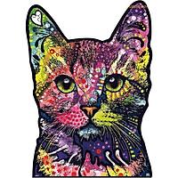 Bộ xếp hình gỗ đồ chơi puzzle ghép hình con vật, bộ xếp hình trí tuệ, quà tặng bạn bè - Chú mèo